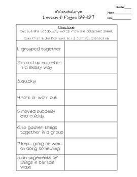 Journeys - HMH © 2011/2012 Grade 3 Lesson 06 Vocabulary Practice