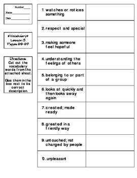 Journeys - HMH © 2011/2012 Grade 4 Lesson 03 Vocabulary Practice