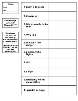 Journeys - HMH © 2011/2012 Grade 4 Lesson 06 Vocabulary Practice