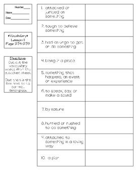 Journeys - Houghton Mifflin Harcourt Grade 4 Lesson 11 Vocabulary Practice