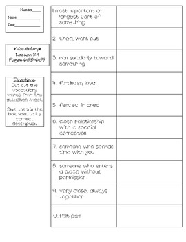 Journeys - HMH © 2011/2012 Grade 4 Lesson 24 Vocabulary Practice