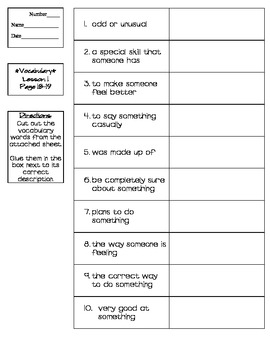Journeys - HMH © 2011/2012 Grade 4 Lessons 1-30 Vocabulary Practice
