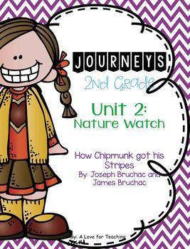 Journeys How Chipmunk Got his Stripes Grade 2 {Editable}