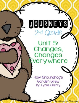 Journeys How Groundhog's Garden Grew Grade 2 {Editable}