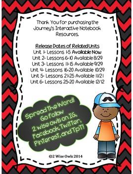 Journeys Interactive Notebooks Unit 1