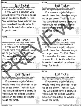 Journeys-Jellies: The Secret Life of Jellyfish Exit Tickets