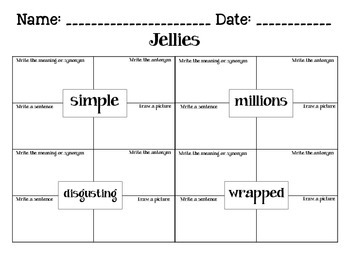 Journeys Jellies: Unit 2.5 Lesson 10 Spelling & Vocabulary Activities