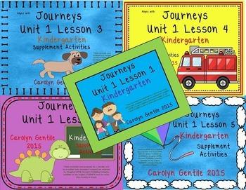 Journeys Kindergarten Bundle Unit 1 2012 Version