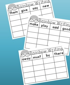 rainbow writing spelling words template - collection of rainbow writing worksheets bluegreenish
