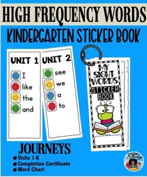 Journeys Kinder Sticker Sight Word Booklet