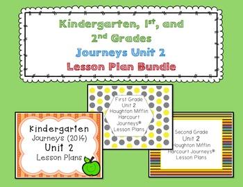 Journeys Kindergarten, 1st, and 2nd Grade UNIT 2 BUNDLE
