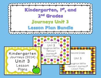 Journeys Kindergarten, 1st, and 2nd Grade UNIT 3 BUNDLE