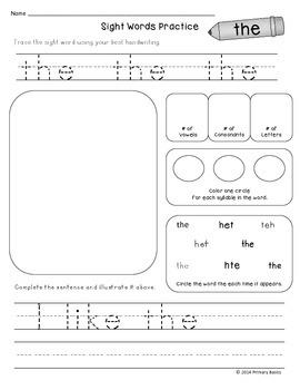 Journeys Kindergarten 2014 Common Core Sight Word Printables