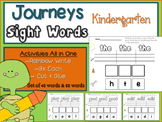 Journeys Kindergarten Activity Sheet- 88 words (All Lessons)