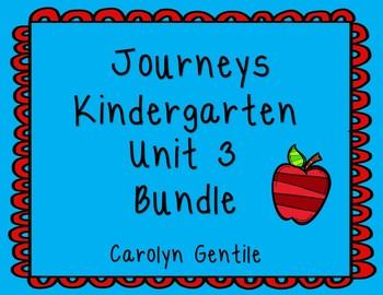 Journeys Kindergarten Bundle Unit 3