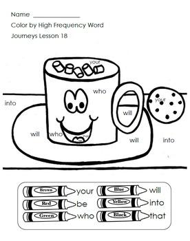 Journeys Kindergarten Color By HFW/Sight Word BUNDLE!