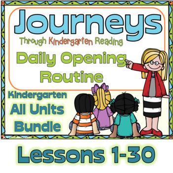 Journeys Kindergarten Daily Routine, Units 1-6  Bundle