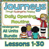 Journeys Kindergarten Daily Routine, Units 1-6  Bundle