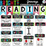 {BRIGHT COLORS} Journeys Kindergarten Focus Wall Set + Editable Labels
