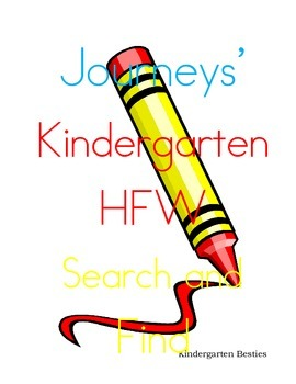 Journeys' Kindergarten HFW Search and Find