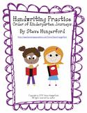 Handwriting Practice - Letters and Numbers - Order of Kindergarten Journeys