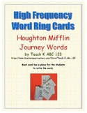 Journeys Kindergarten High Frequency Word Ring Cards