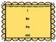 Journeys Kindergarten High Frequency Words Pack Lists, Car