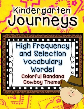 Journeys Kindergarten High Frequency and Vocab for Word Wall: Colorful Bandana