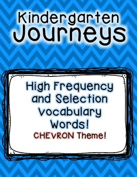 Journeys Kindergarten High Frequency and Vocab for Word Wall: Colorful Chevron