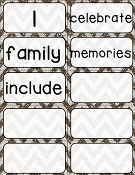 Journeys Kindergarten High Frequency and Vocab for Word Wall: Glitter Chevron