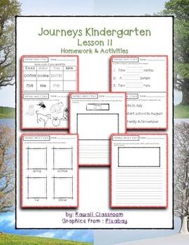 Journeys Kindergarten Lesson 11 Homework & Classwork