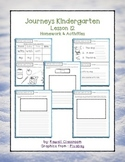 Journeys Kindergarten Lesson 12 Homework & Classwork