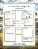 Journeys Kindergarten Lesson 14 Homework & Classwork