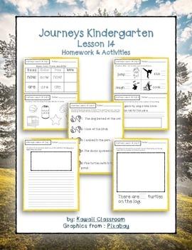Journeys Kindergarten Lesson 14 Homework & Classwork