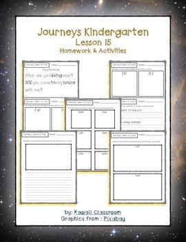Journeys Kindergarten Lesson 15 Homework & Classwork