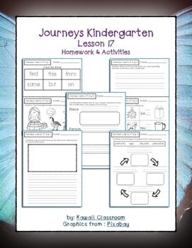 Journeys Kindergarten Lesson 17 Homework & Classwork