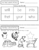 Journeys Kindergarten Lesson 18 Homework & Classwork