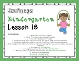 Journeys Kindergarten Lesson 18 Morning Work and Vocabulary
