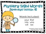Journeys Kindergarten Lesson 18 Mystery Sight Word Interactive Game