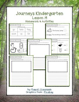 Journeys Kindergarten Lesson 19 Homework & Classwork