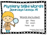 Journeys Kindergarten Lesson 19 Mystery Sight Word Interactive Game