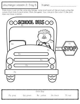 Journeys Kindergarten Lesson 2 Homework