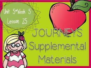 Journeys - Kindergarten Lesson 25 - Unit 5, Week 5 - Suppl