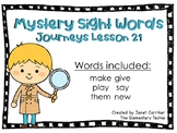 Journeys Kindergarten Lesson 21 Mystery Sight Word Interactive Game