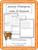 Journeys Kindergarten Lesson 22 Homework