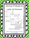 Journeys Kindergarten Lesson 23 Homework