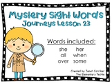 Journeys Kindergarten Lesson 23 Mystery Sight Word Interactive Game