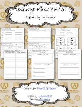 Journeys Kindergarten Lesson 25 Homework & Classwork