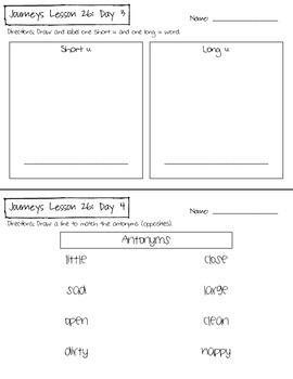 Journeys Kindergarten Lesson 26 Homework