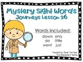 Journeys Kindergarten Lesson 26 Mystery Sight Word Interactive Game